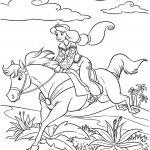 Princess Horse Coloring Page Princess Horse Coloring Page