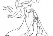 Princess Jasmine Aladdin Coloring Pages Princess Jasmine Aladdin Coloring Pages