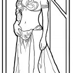 Princess Leia Coloring Page Princess Leia Coloring Page