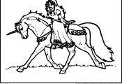 Princess On Unicorn Coloring Page Princess On Unicorn Coloring Page