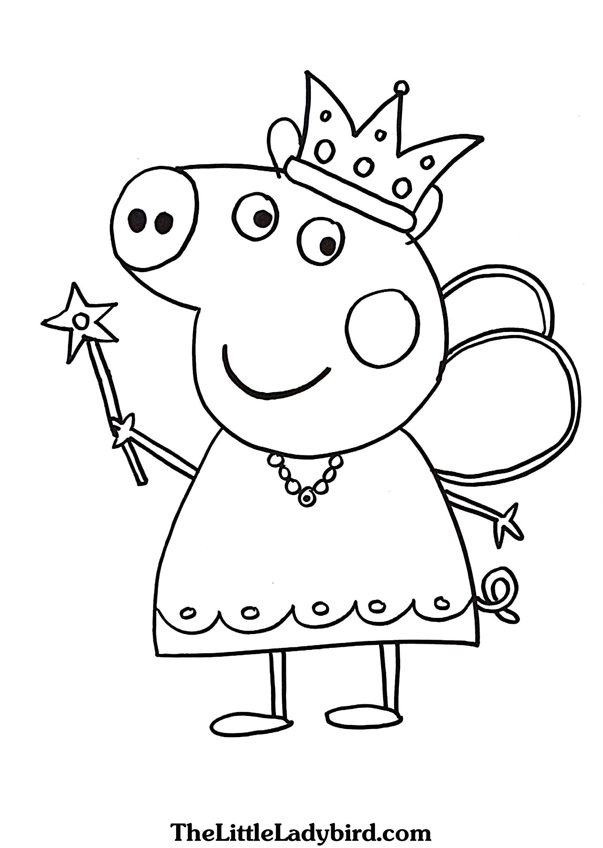 Princess Peppa Pig Coloring Pages Wallpaper