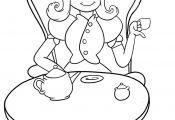 Princess Tea Party Coloring Page Princess Tea Party Coloring Page