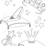 Princess Wand Coloring Page Princess Wand Coloring Page