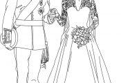 Princess Wedding Coloring Page Princess Wedding Coloring Page