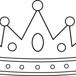 Princess with Crown Coloring Page Princess with Crown Coloring Page