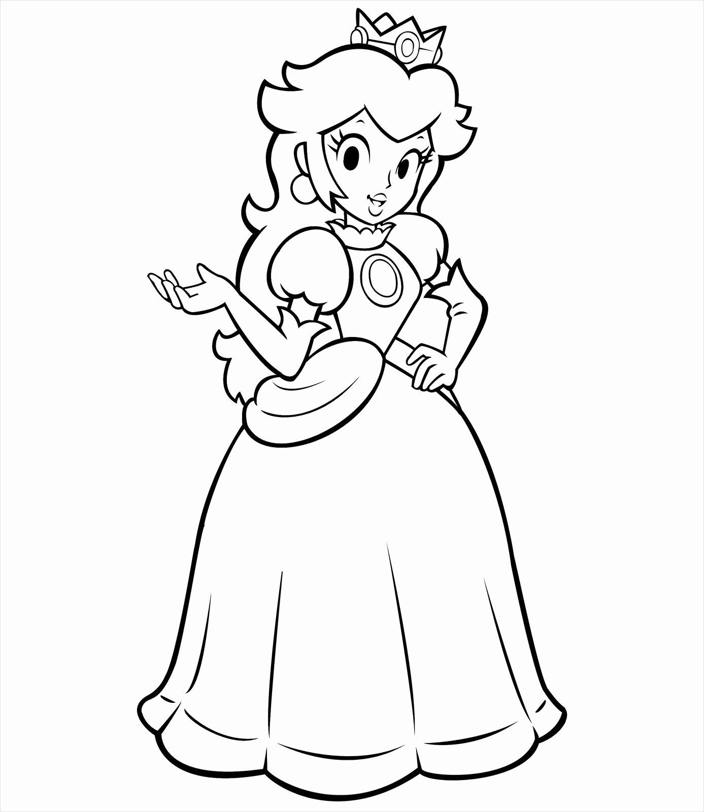 Print Princess Peach Coloring Pages Wallpaper