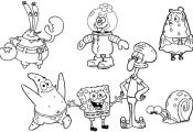 Printable Coloring Pages Of Spongebob and Friends Printable Coloring Pages Of Spongebob and Friends