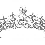 Printable Princess Crown Coloring Pages Printable Princess Crown Coloring Pages