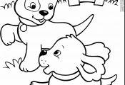Puppy Coloring Printouts Puppy Coloring Printouts