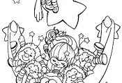 rainbow berit coloring | Rainbow Brite color page cartoon characters coloring pa...