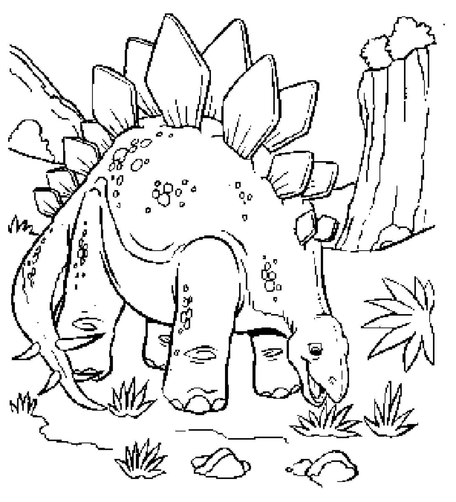 Realistic Dinosaurs Coloring Pages Wallpaper