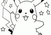 Santa Pikachu Coloring Page Santa Pikachu Coloring Page