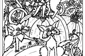 Scary Black Cat Coloring Pages Scary Black Cat Coloring Pages