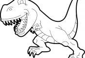 Scary T Rex Coloring Page Scary T Rex Coloring Page