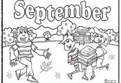 september coloring sheets and activities | Back To School September Coloring Pag...
