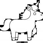 Simple Unicorn Outline Simple Unicorn Outline