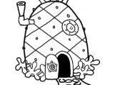 Spongebob House Coloring Pages Spongebob House Coloring Pages