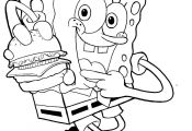 Spongebob Krabby Patty Coloring Pages Spongebob Krabby Patty Coloring Pages