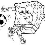 Spongebob soccer Coloring Pages Spongebob soccer Coloring Pages