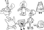 Spongebob Squarepants Characters Coloring Pages Spongebob Squarepants Characters Coloring Pages