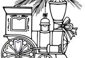 train coloring pages for christmas: train coloring pages for christmas