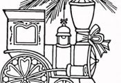 train coloring pages free printable | Christmas Trains coloring page | Super Col...