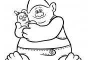 Trolls Coloring Pages Biggie Trolls Coloring Pages Biggie