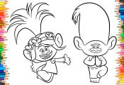 Trolls Coloring Pages Creek Trolls Coloring Pages Creek