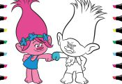 Trolls Coloring Pages Youtube Trolls Coloring Pages Youtube