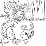 Trolls Holiday Coloring Pages Trolls Holiday Coloring Pages