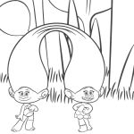 Trolls Twins Coloring Pages Trolls Twins Coloring Pages