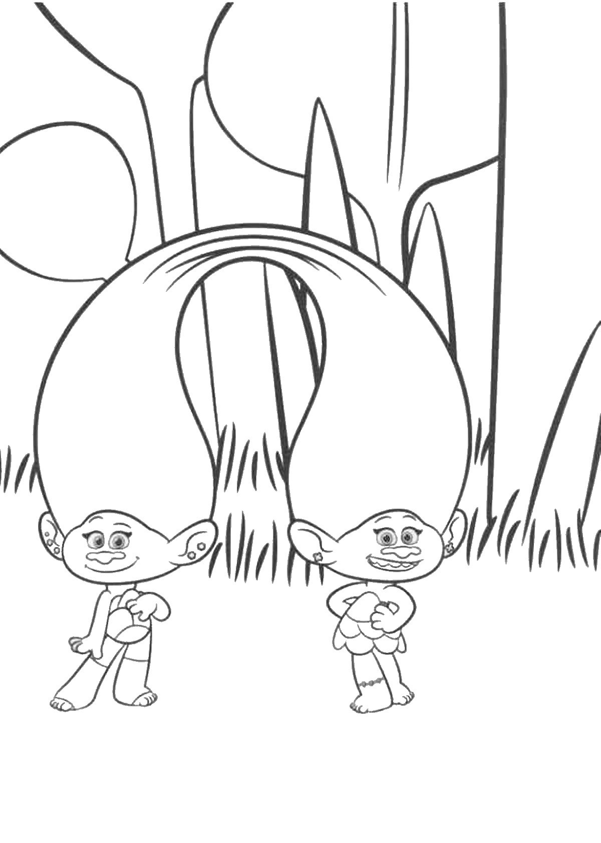 trolls-twins-coloring-pages-of-trolls-twins-coloring-pages Trolls Twins Coloring Pages Cartoon