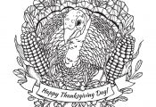 Turkey Coloring Pages for Adults Turkey Coloring Pages for Adults