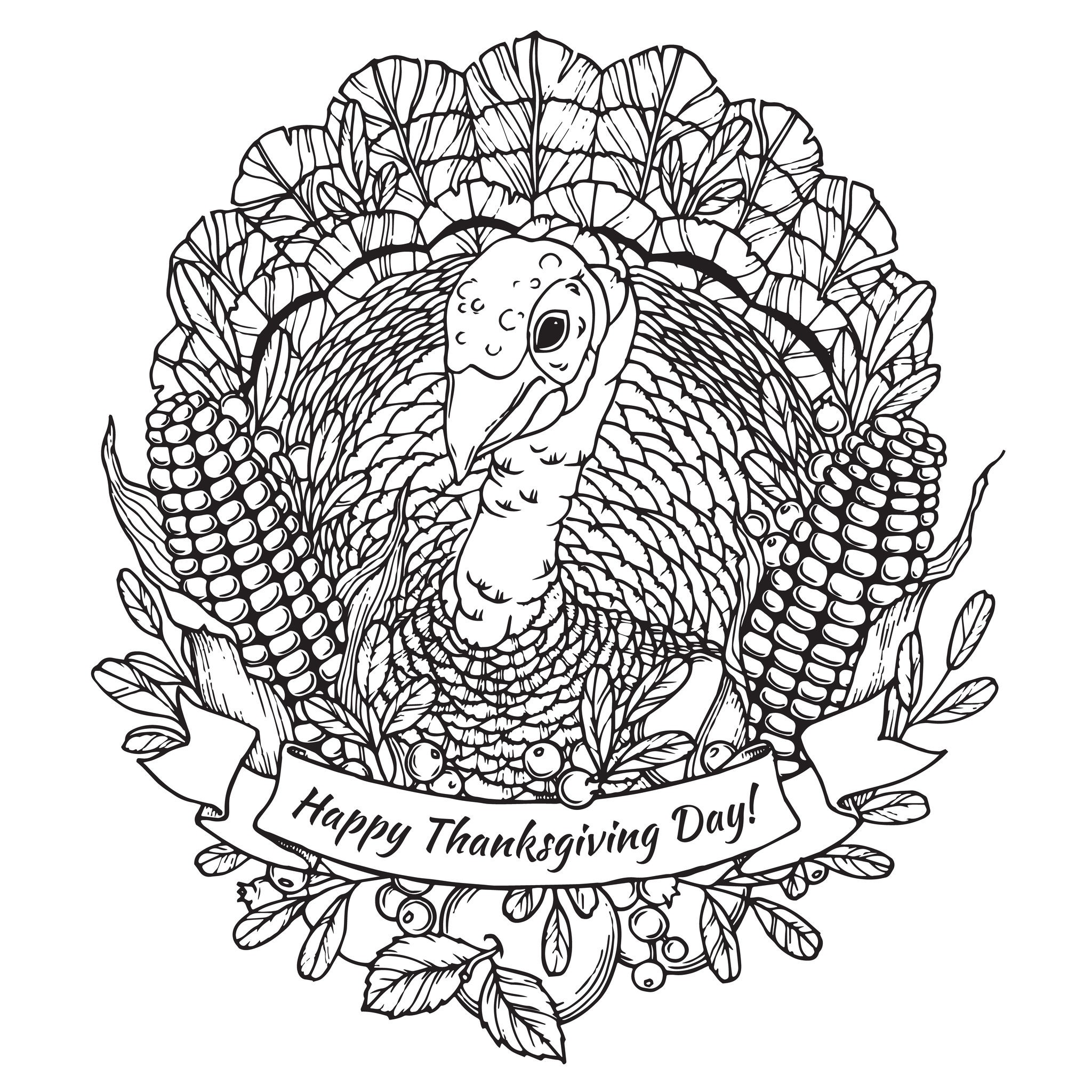 turkey-coloring-pages-for-adults-of-turkey-coloring-pages-for-adults Turkey Coloring Pages for Adults Animal