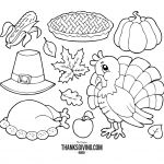 Turkey Dinner Coloring Page Turkey Dinner Coloring Page