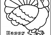 Turkey Outline Coloring Page Turkey Outline Coloring Page