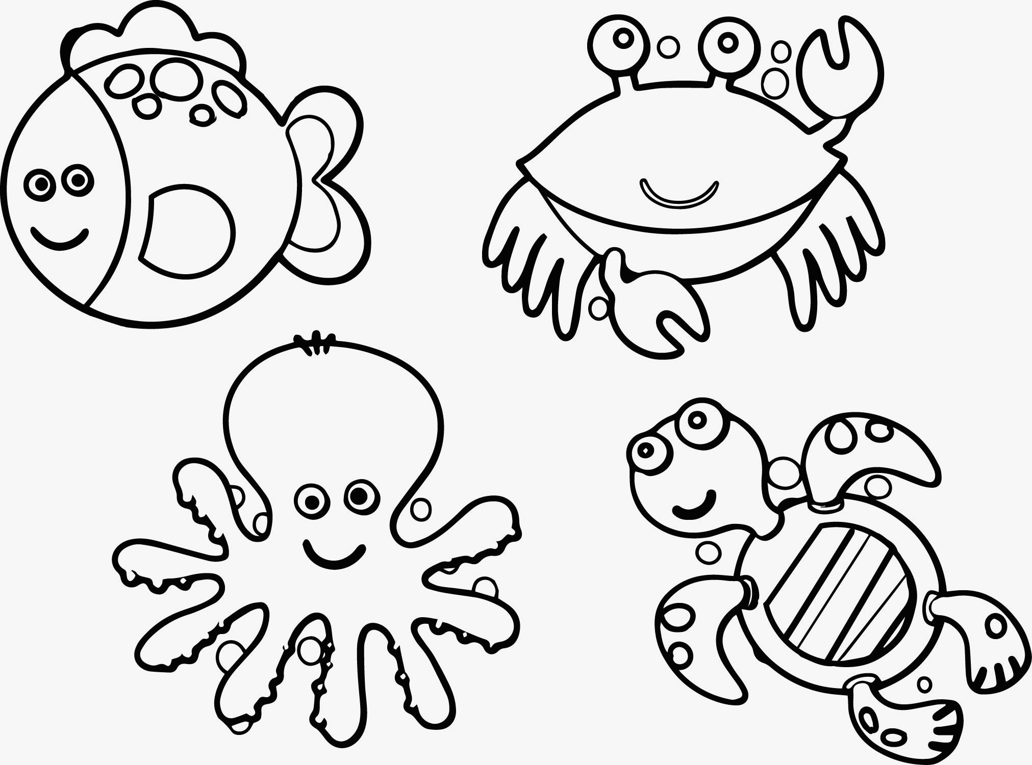 underwater-animals-coloring-pages-of-underwater-animals-coloring-pages Underwater Animals Coloring Pages Animal