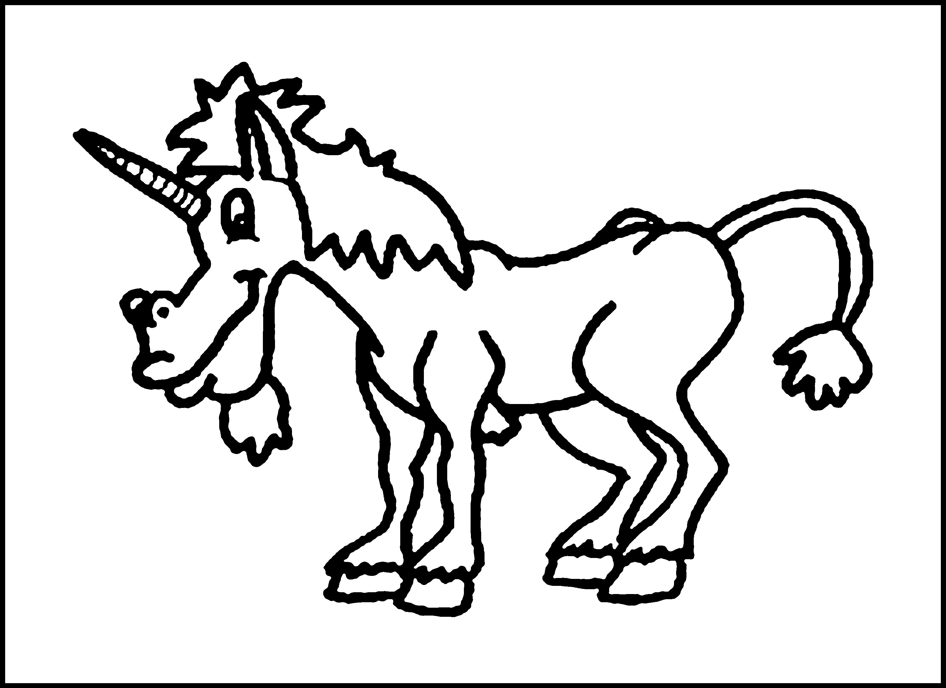 Unicorn Coloring Pages Online Wallpaper