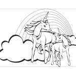 Unicorn Rainbow Coloring Pages Unicorn Rainbow Coloring Pages