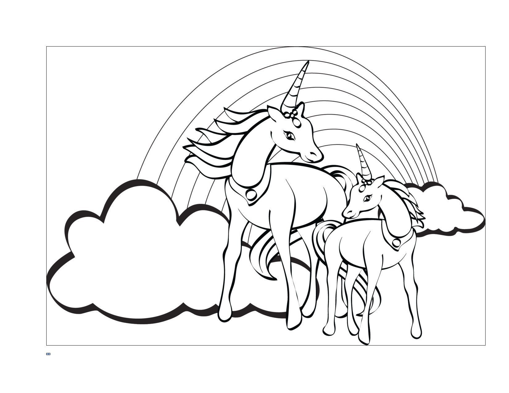 Unicorn Rainbow Coloring Pages Wallpaper