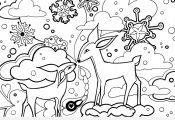 Winter Animal Coloring Pages Winter Animal Coloring Pages
