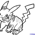 Zombie Pikachu Coloring Page Zombie Pikachu Coloring Page