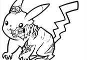 Zombie Pikachu Coloring Pages Zombie Pikachu Coloring Pages
