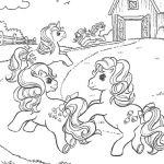 (^_^) MY LITTLE PONY coloring pages - Ponies having a picnic