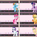 My Little Pony  Food Tents Chalkboard Flowers * My Little Pony  Favor Tags * My ...