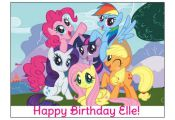 MY LITTLE PONY image cake topper decoration party birthday Custom cupcake round ...