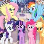 #1633447 - alicorn, applejack, artist:liniitadash23, canterlot, earth pony, fema...