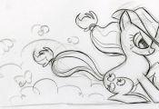 #26147 - applejack, artist:lauren faust, behind the scenes, color me, concept ar...