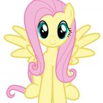 """$3.75 - Fluttershy My Little Pony Iron On Transfer 5""""X5.5"""" For Light Colored Fab..."""