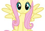 "$3.75 - Fluttershy My Little Pony Iron On Transfer 5""X5.5"" For Light Colored Fab..."